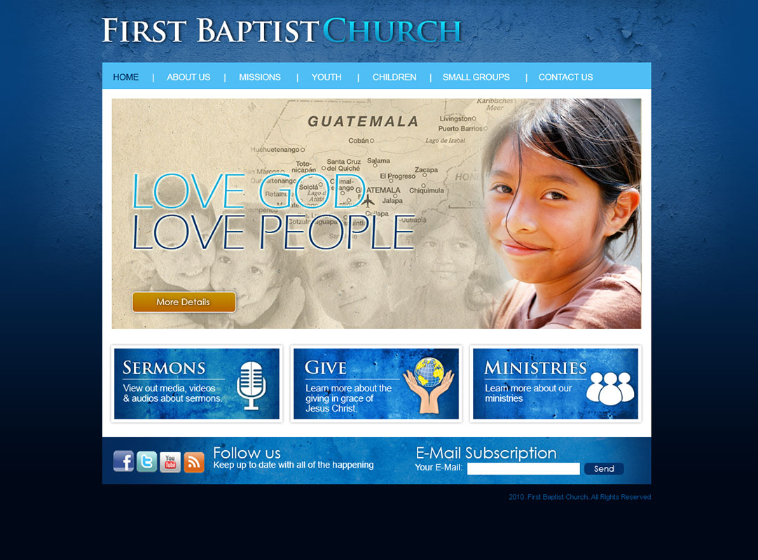 Church Website Design of the church websites we