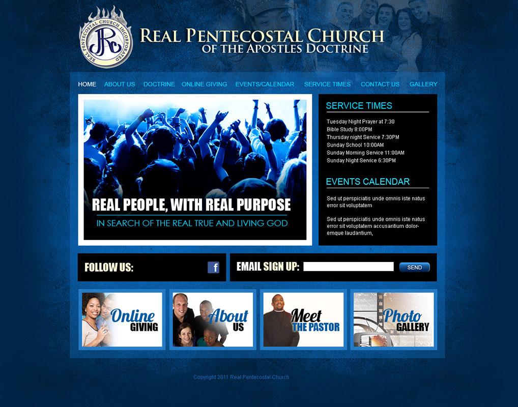 free church website templates - church website design and church logo design