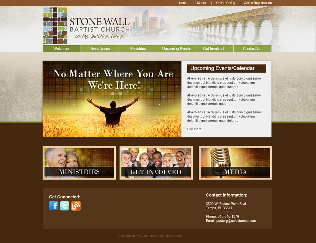 Church website design and church logo design for House design websites free